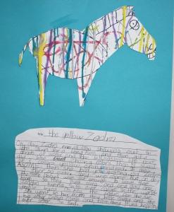 Jackson Pollock zebra