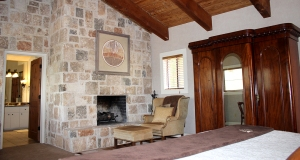 lodge Peregrine fireplace